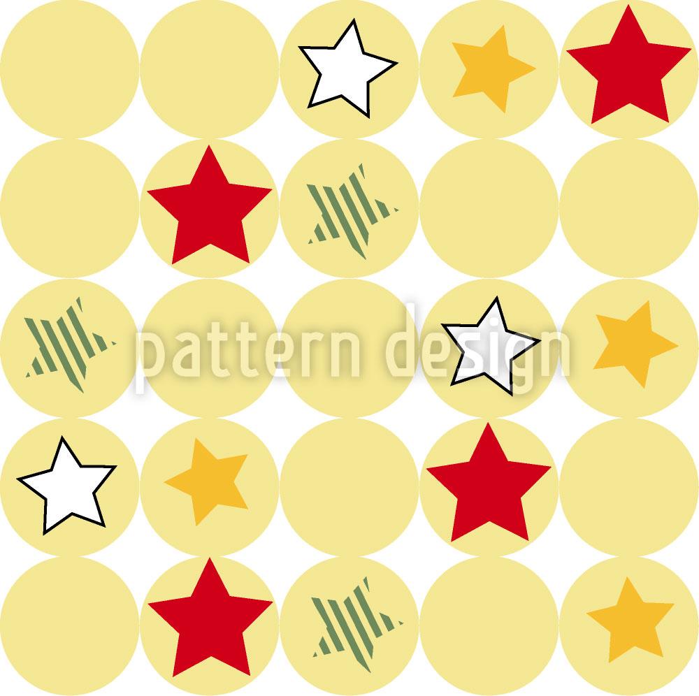 Designtapete Sterne Und Kreise