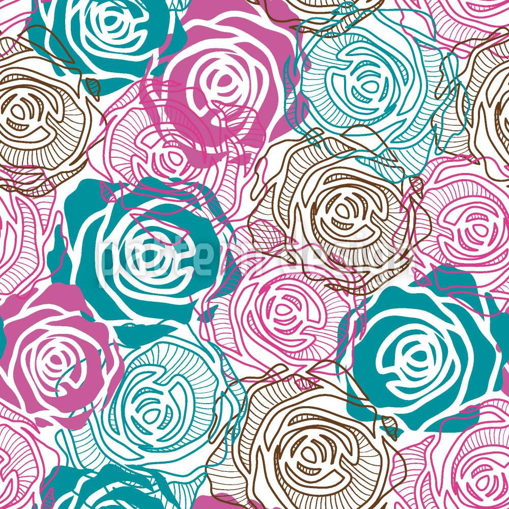 Designtapete Rosenträume