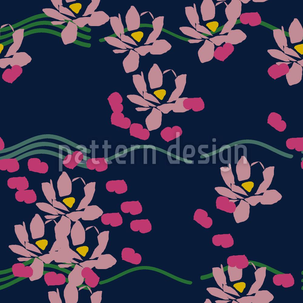 Designtapete Lotus Liebe Blau