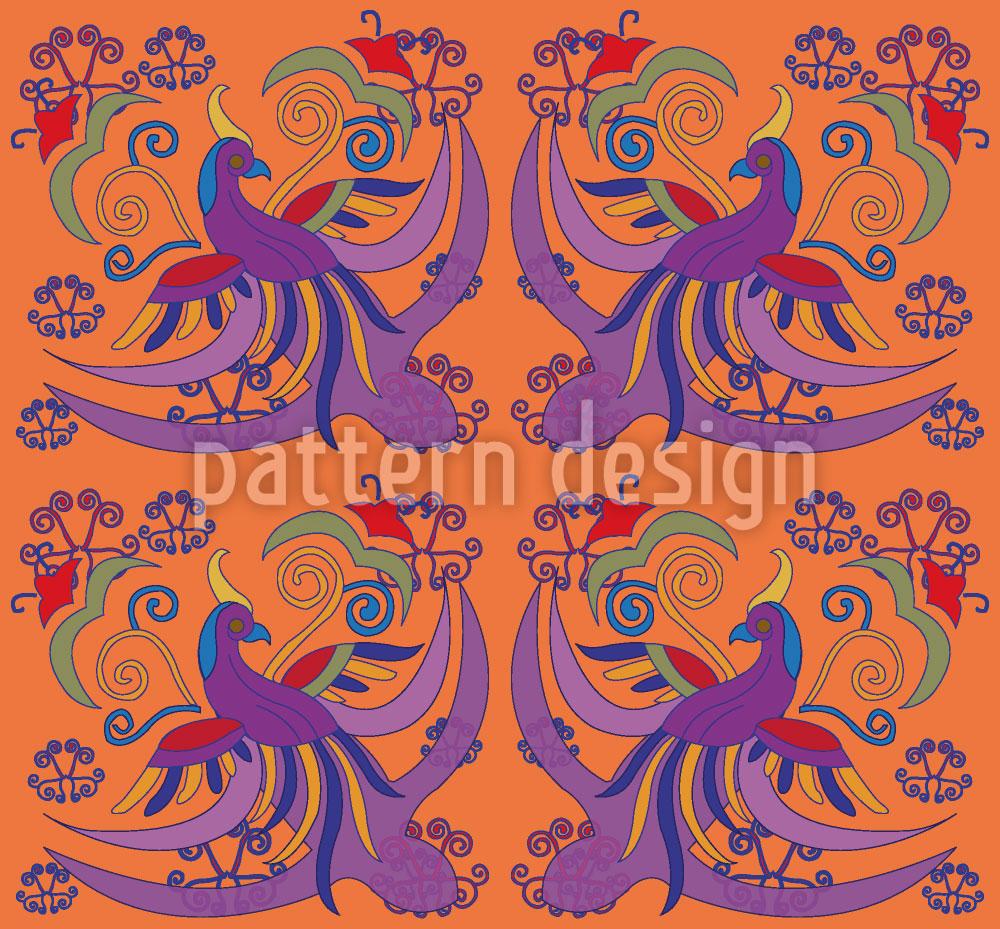Designtapete Paradiesvogel