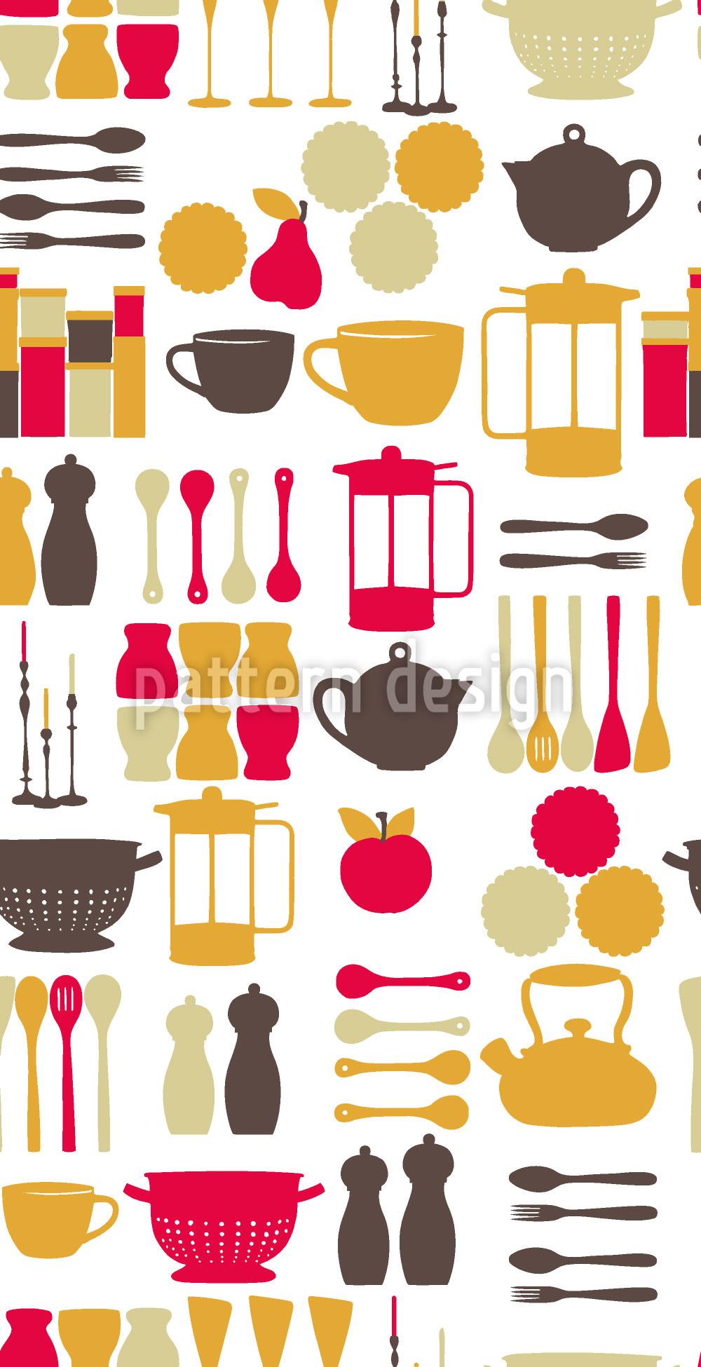 Designtapete Küchenfee Pink