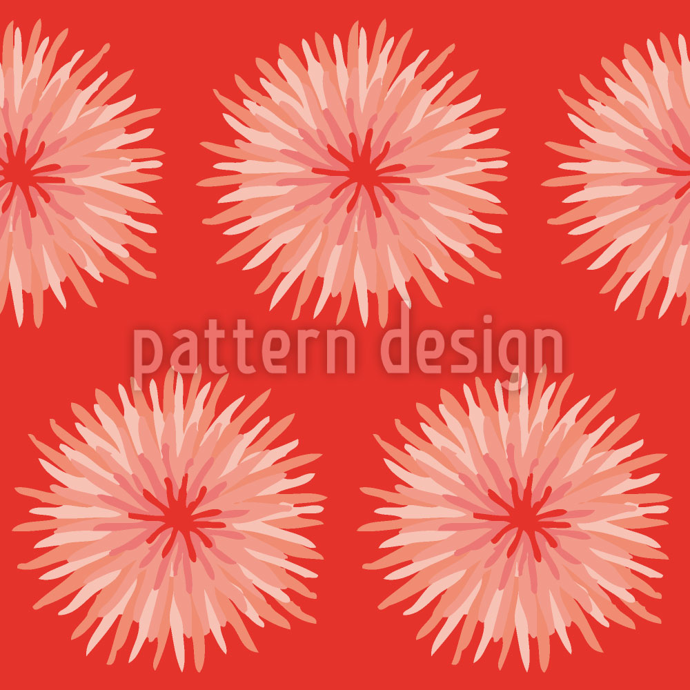 Designtapete Dahlia Orange