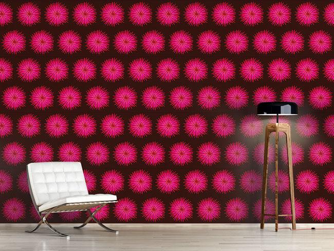 Designtapete Dahlia Pink
