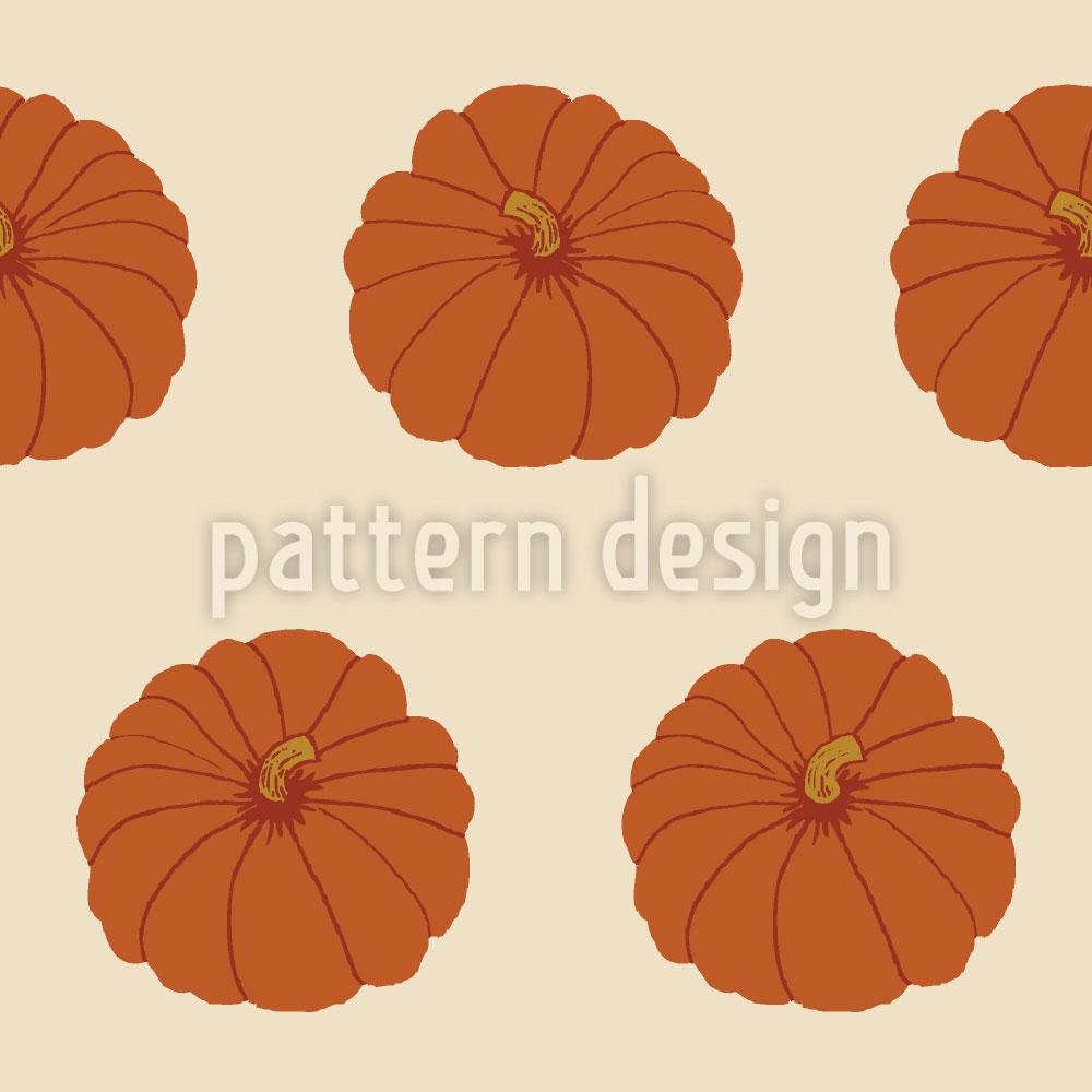 Designtapete Zierkürbis Orange