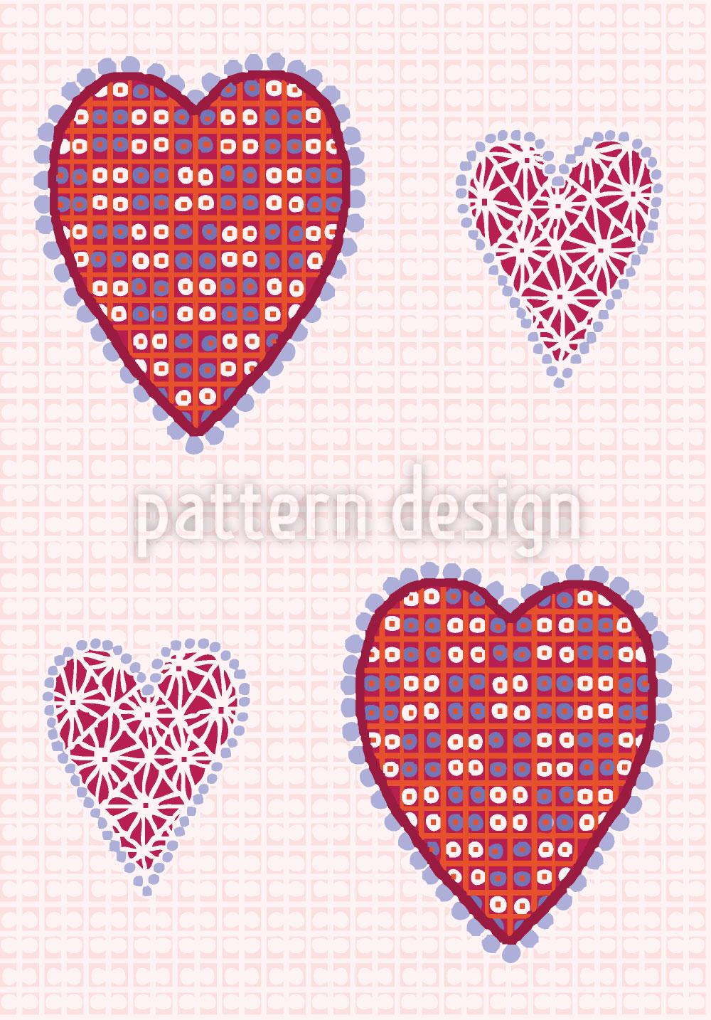 Designtapete Herzbildchen