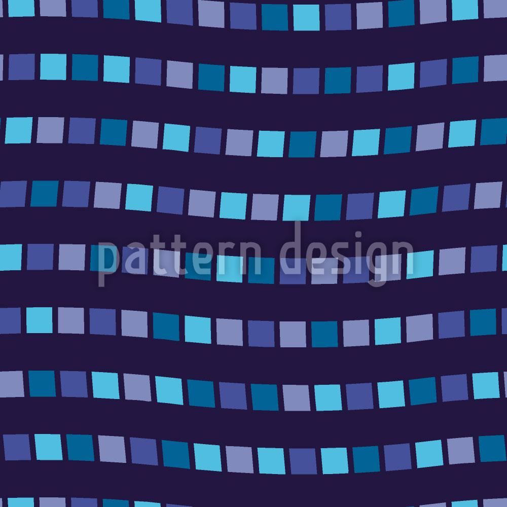 Designtapete Grossstadtgeflüster In Blau