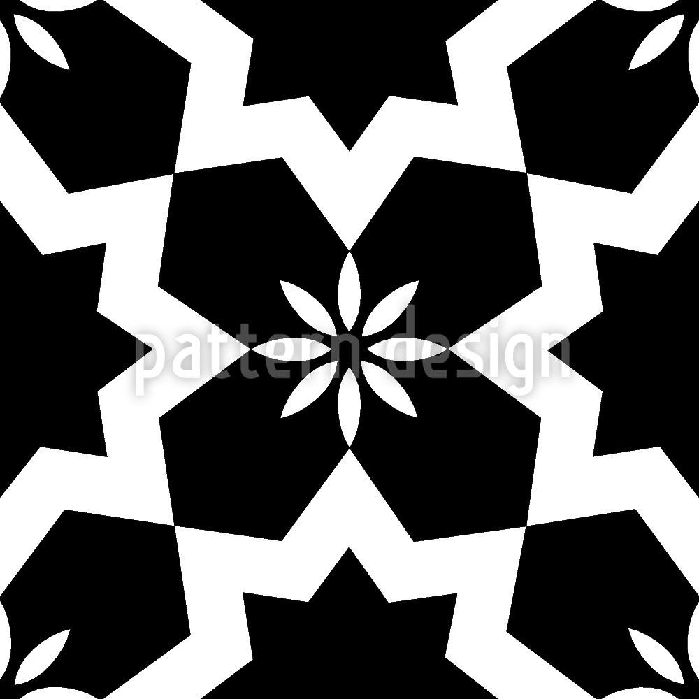 Designtapete Schwarzweisse Sterne