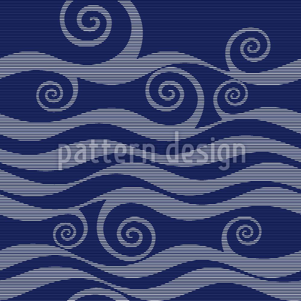 Designtapete Wellen und Schnörkel