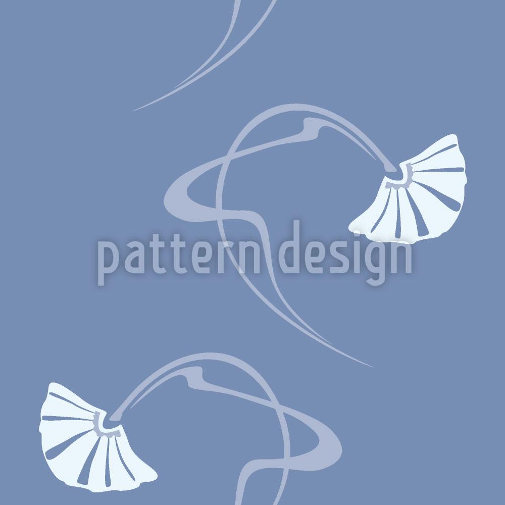 Designtapete Burlesque Blau