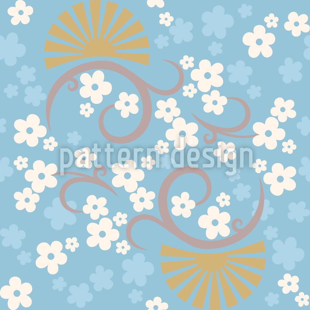 Designtapete Zauber Des Ostens Blau
