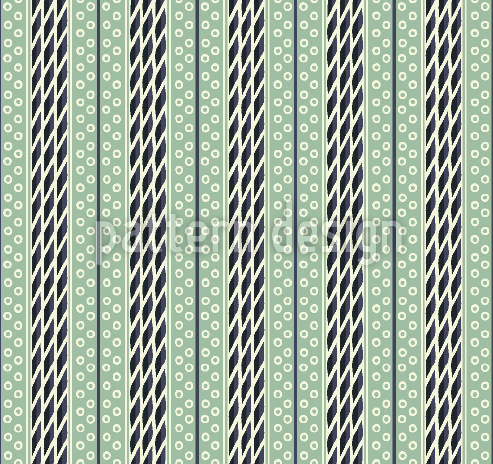 Designtapete Pastellgrüne Streifen