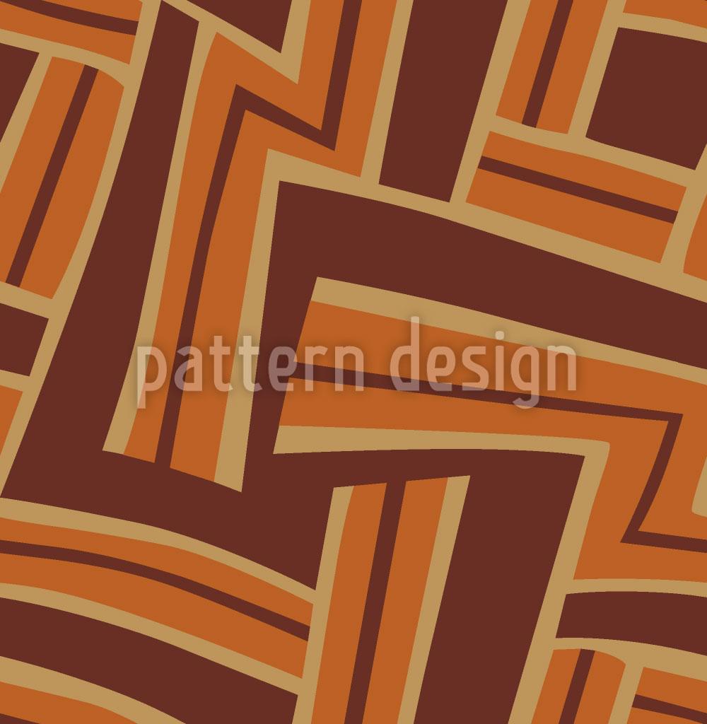 Designtapete Labyrinth Rostrot