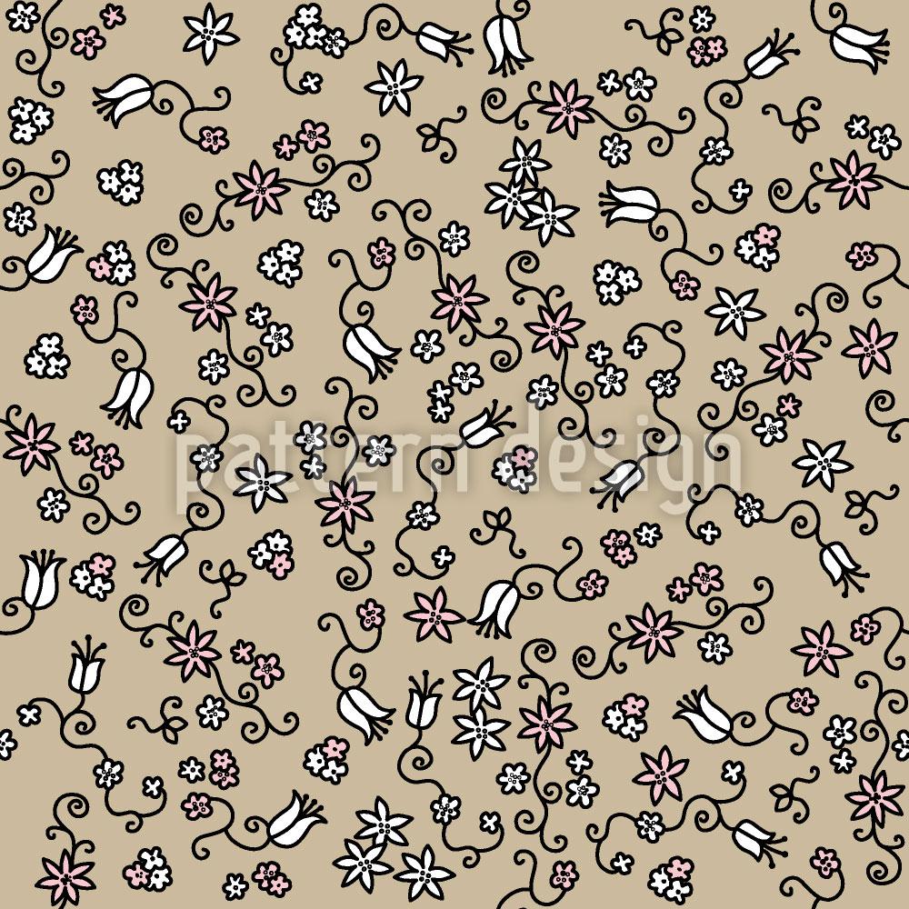 Designtapete Blütenmeer Auf Sand