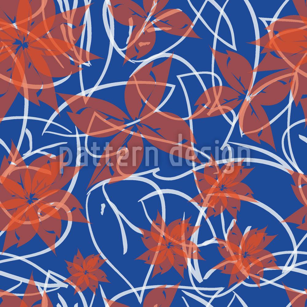 Designtapete Herbstblume