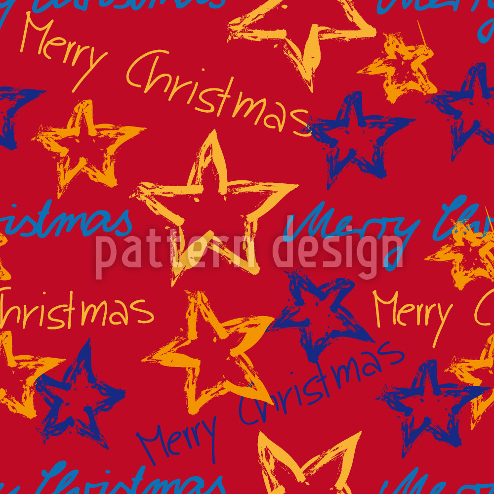 Designtapete Merry Christmas