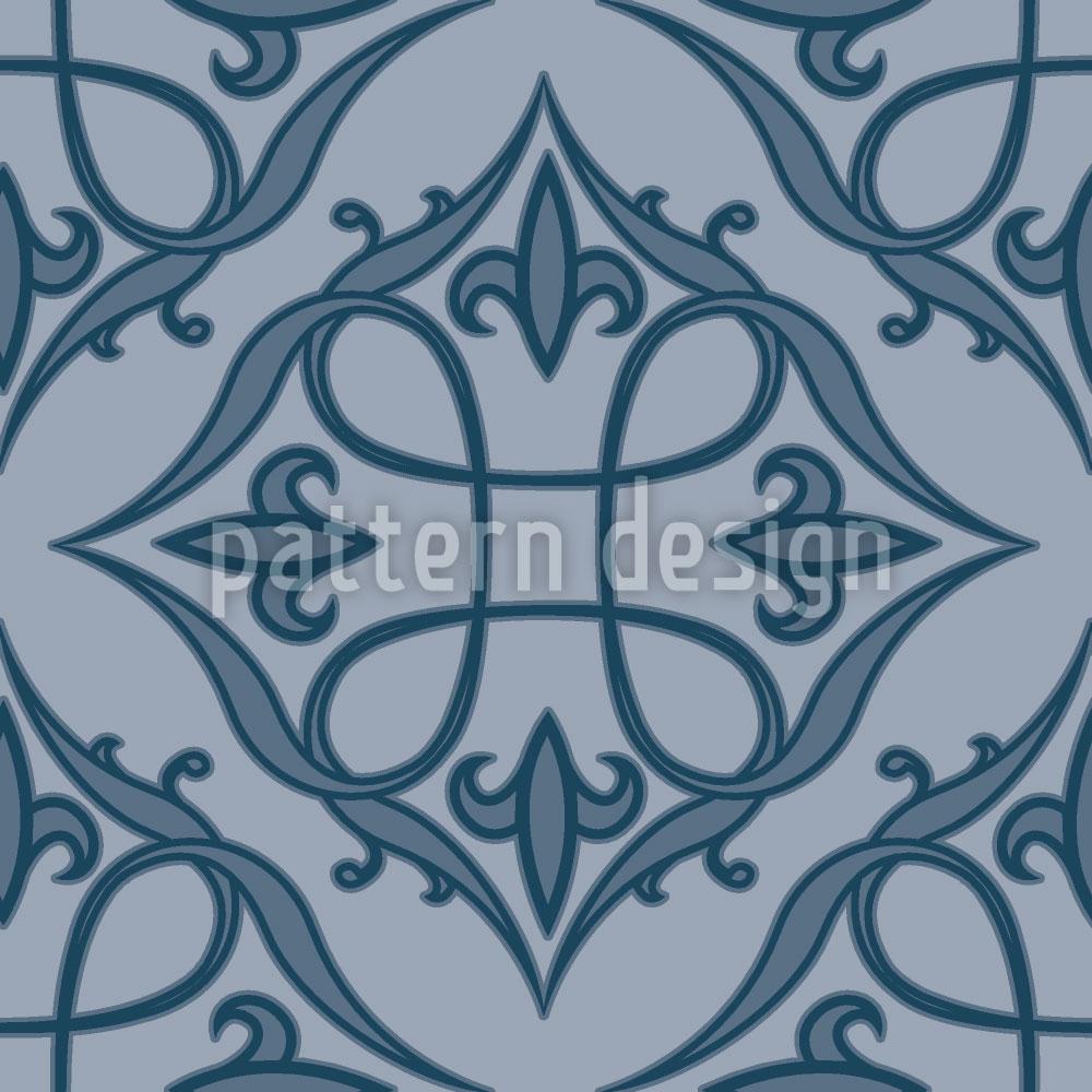 Designtapete Renaissance Blau