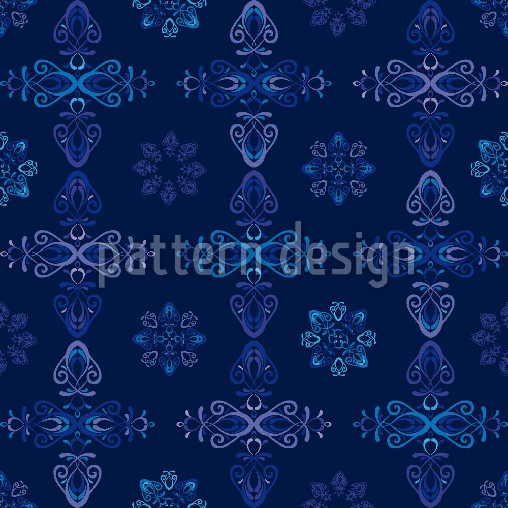 Designtapete Renaissance Kristall Blau
