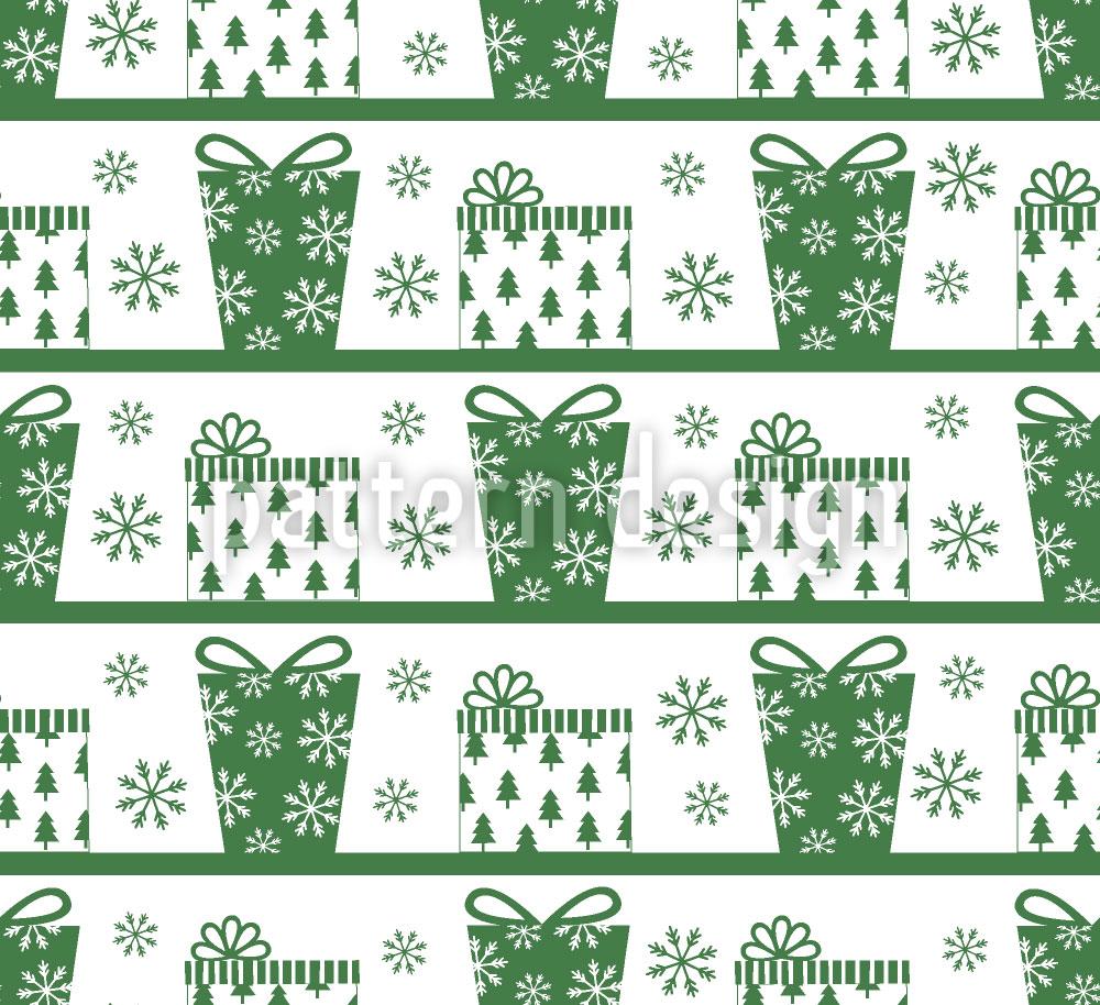 Designtapete Paketzustellung Grün