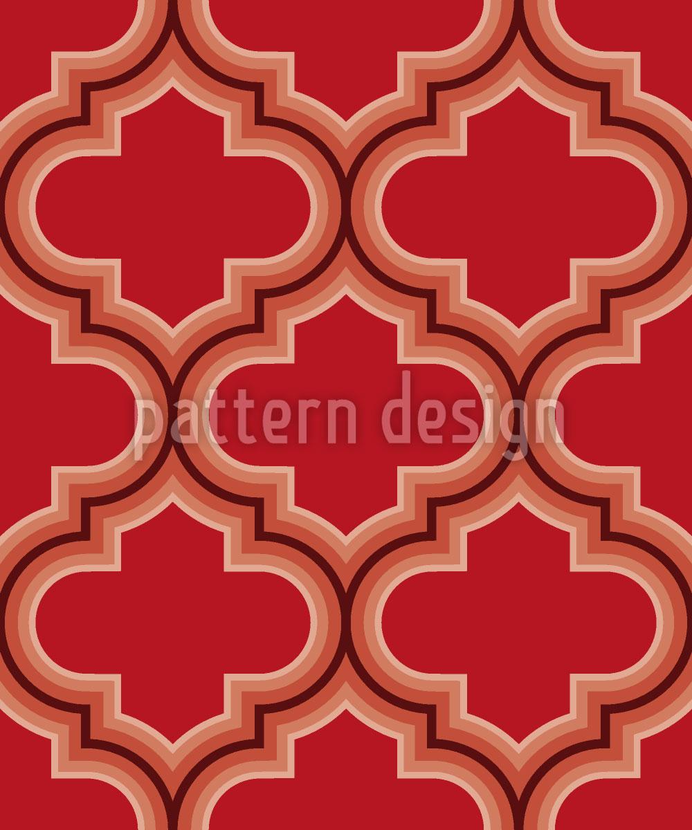 Designtapete Retro Marokko Rot