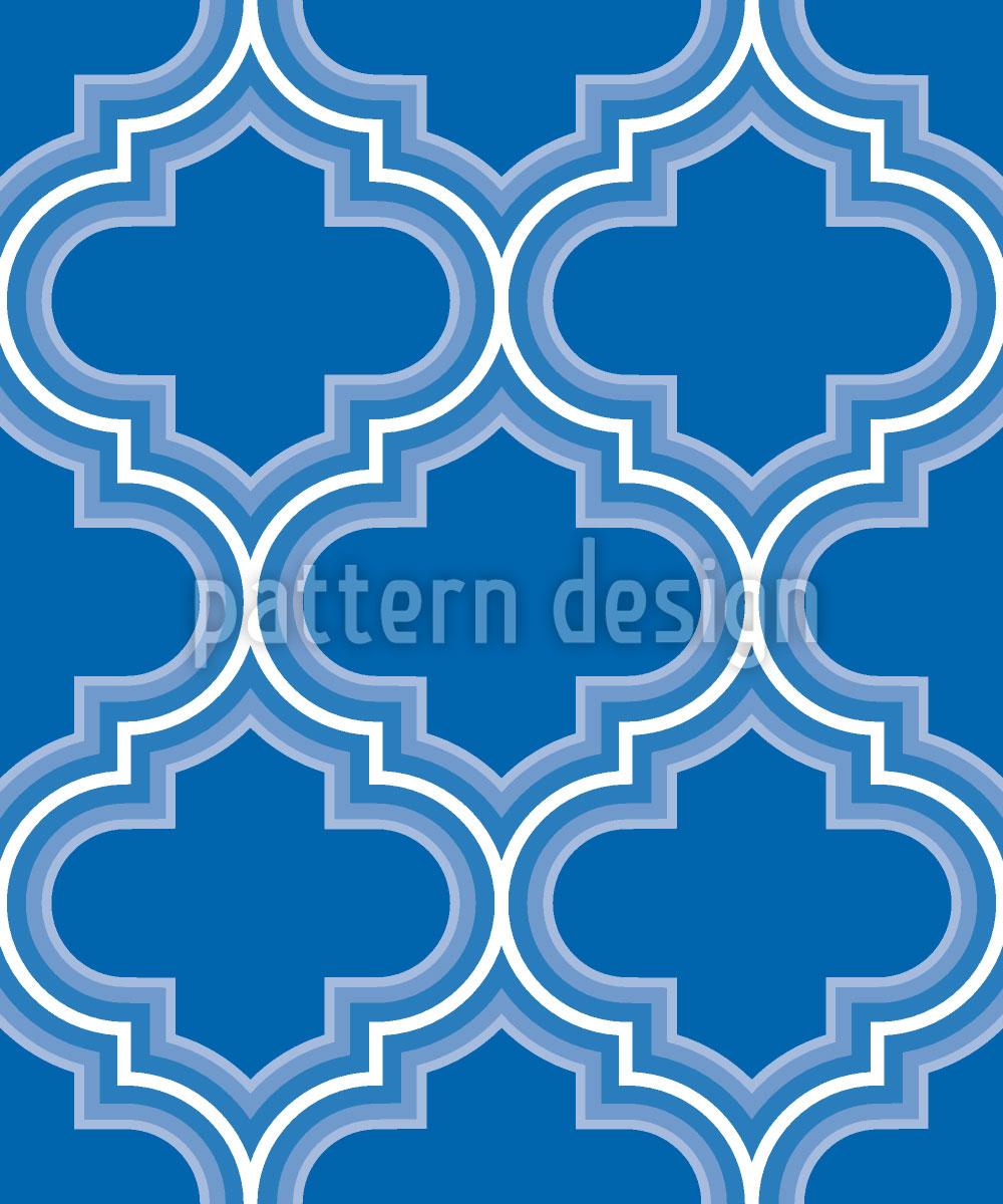 Designtapete Retro Marokko Blau