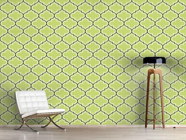 Designtapete Retro Marokko Grün