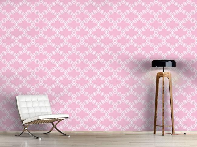 Designtapete Retro Marokko Rosa
