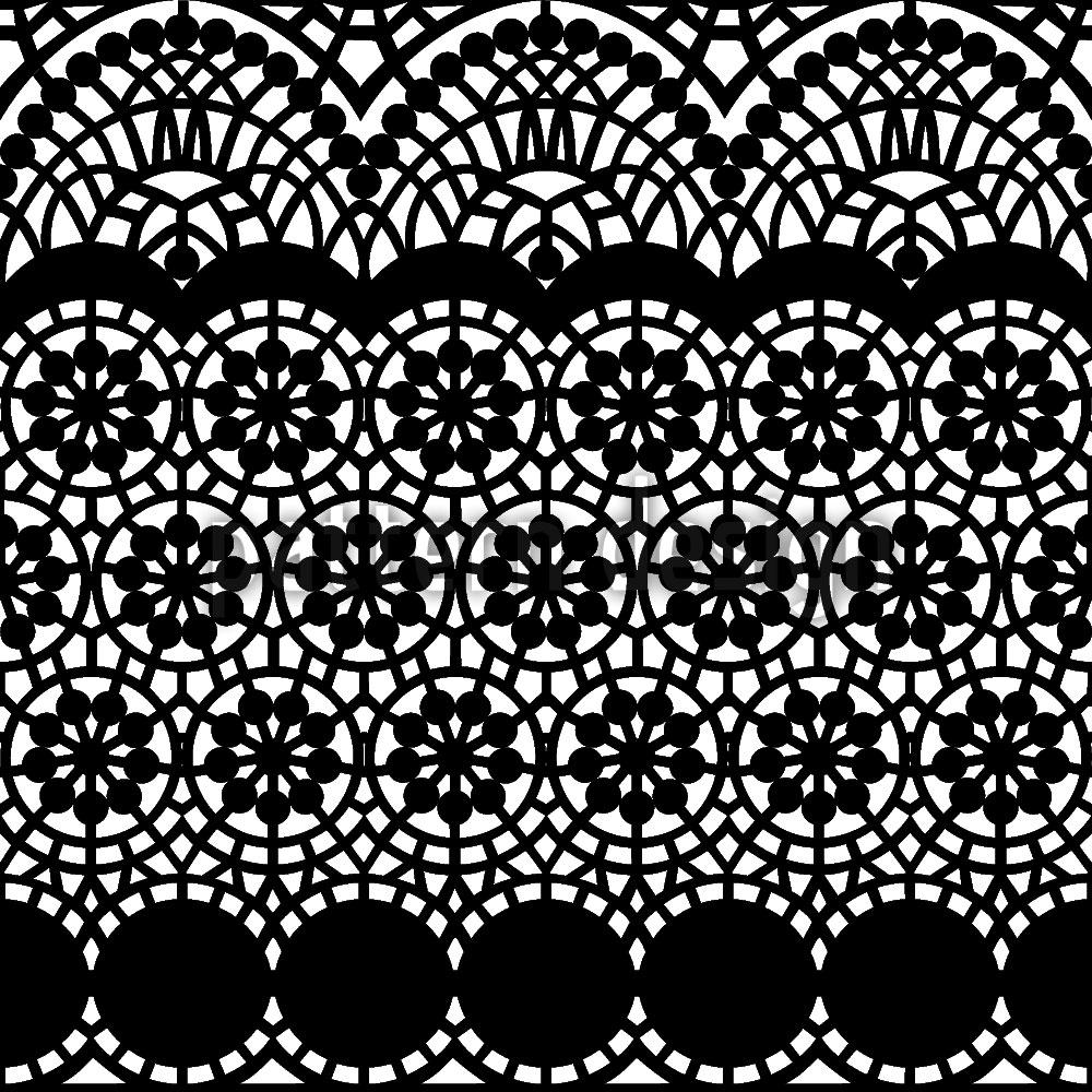 Designtapete Alhambra Schwarz