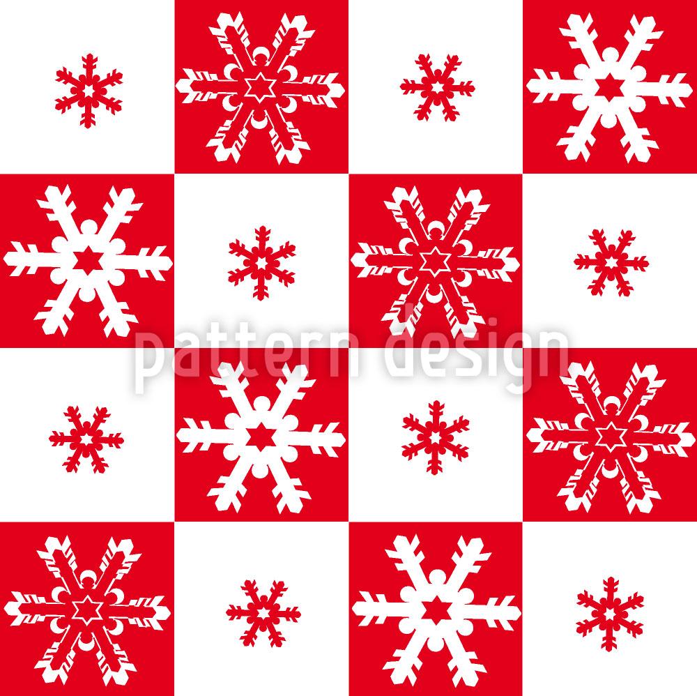 Designtapete Schneeflöckchen
