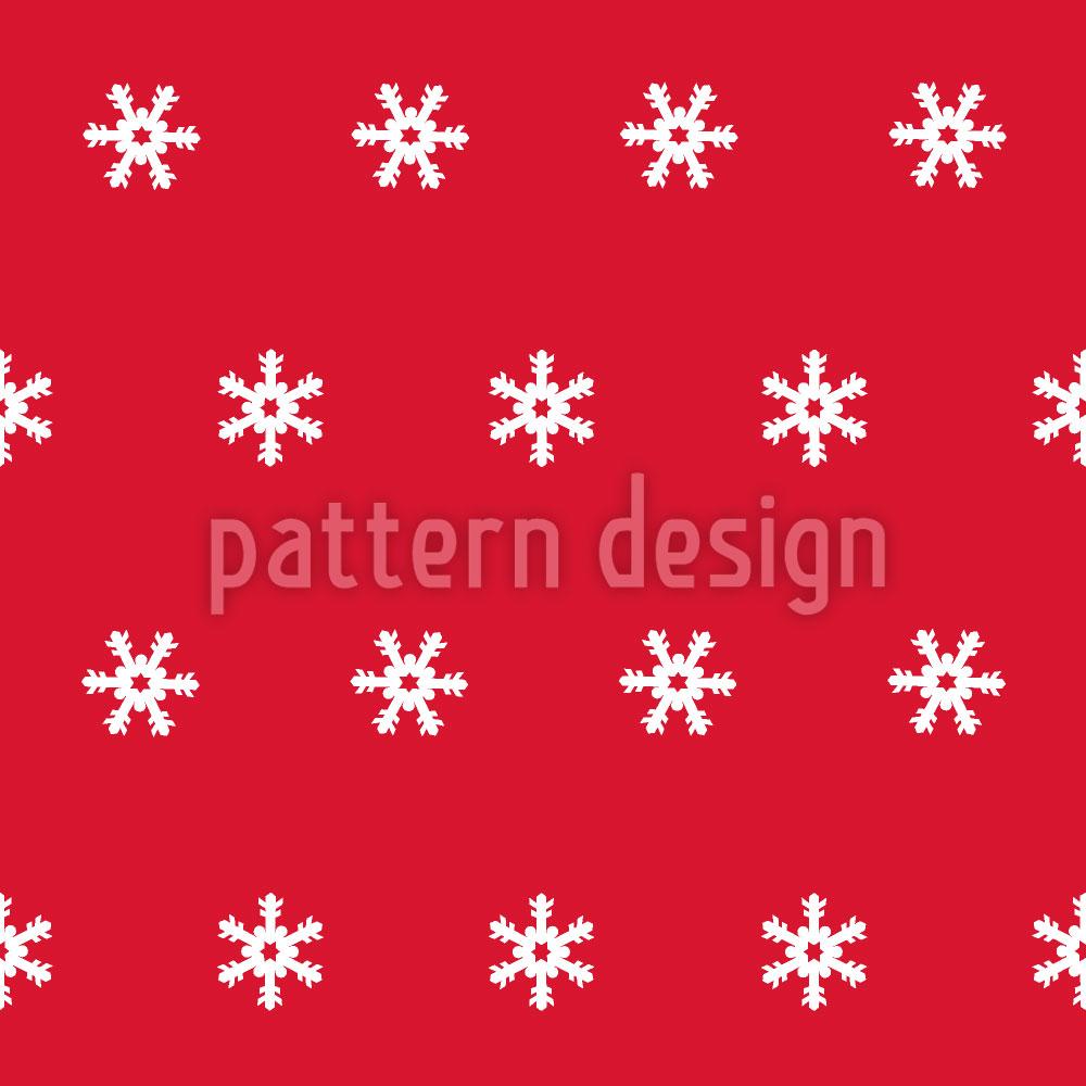 Designtapete Schneeflocken weiss