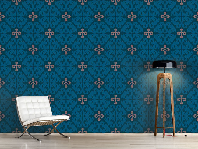 Designtapete Paparock Blau
