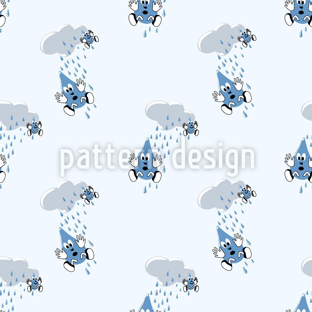 Designtapete Regentropfen Fallen Aus Wolken