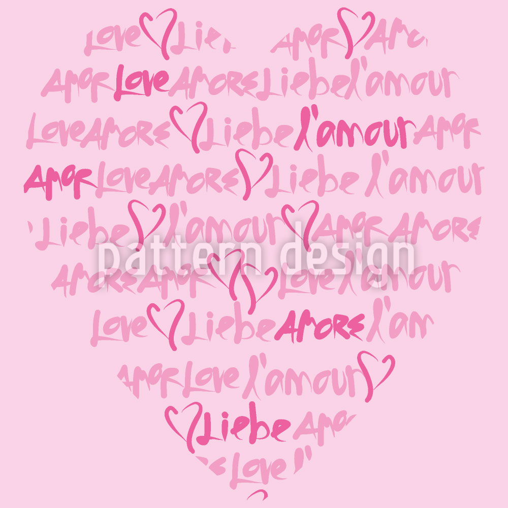 Designtapete Liebeserklärung