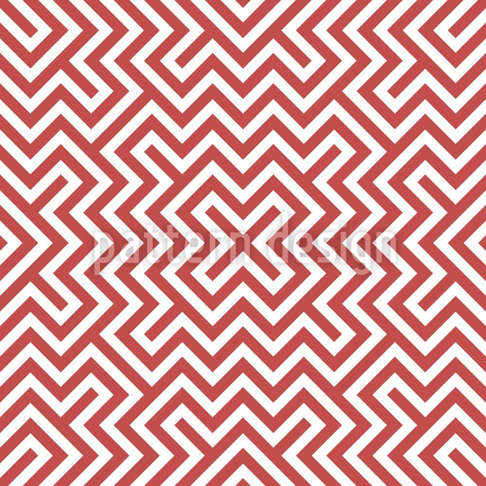 Designtapete Im Zentrum Rot