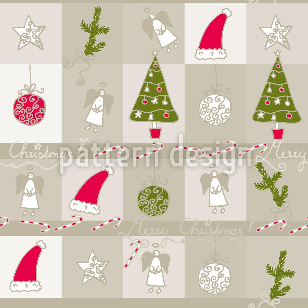 Designtapete Weihnachtstraum Sand