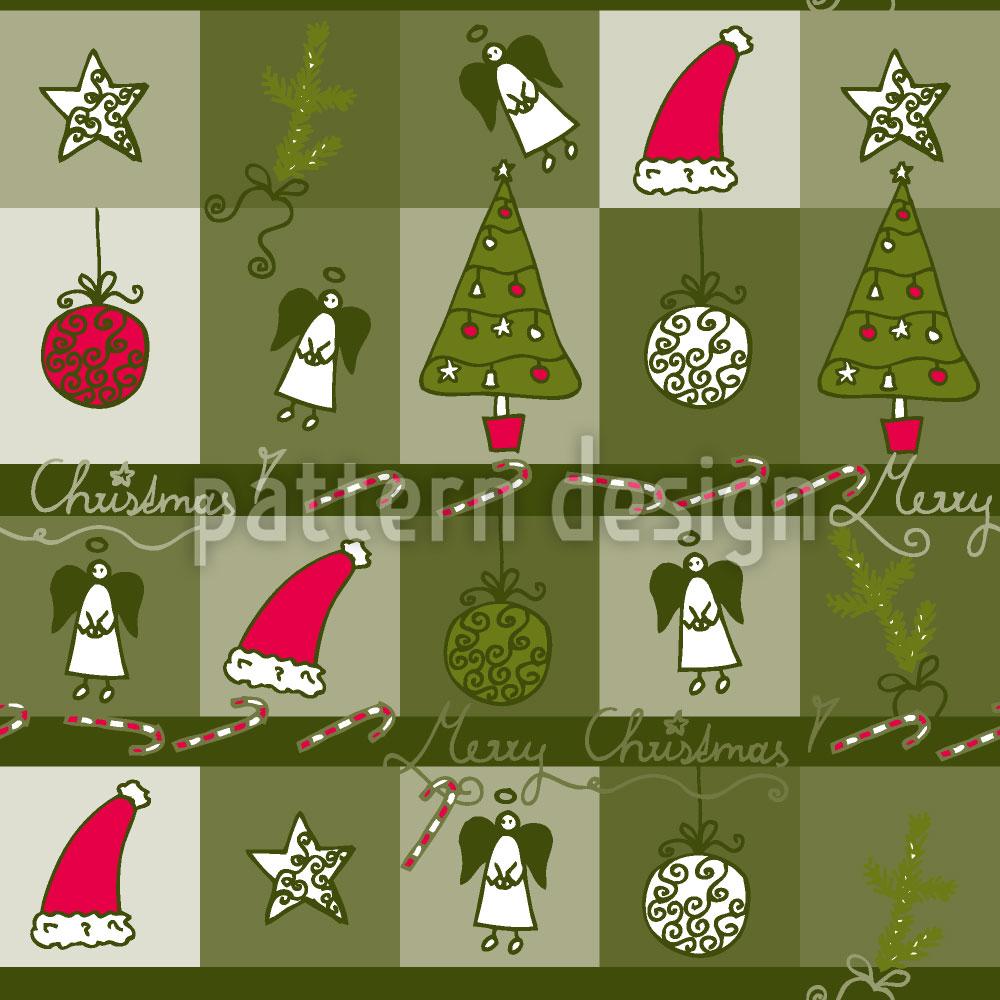 Designtapete Weihnachtstraum Grün