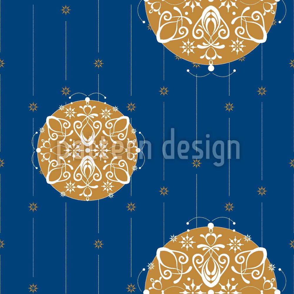 Designtapete Stilisierte Christbaumkugeln