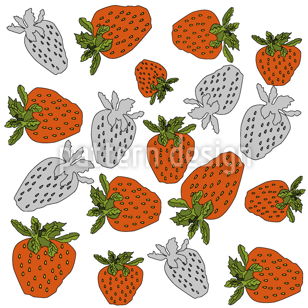Designtapete Rote Erdbeeren