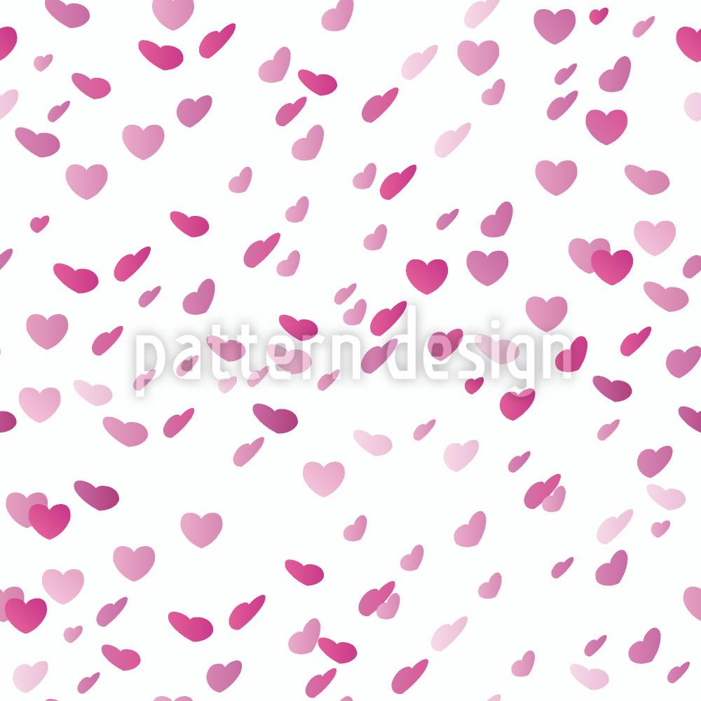 Designtapete Herzchenregen Am Valentinstag