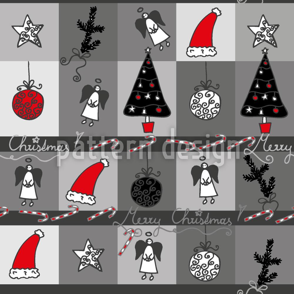 Designtapete Weihnachtstraum Anthrazit