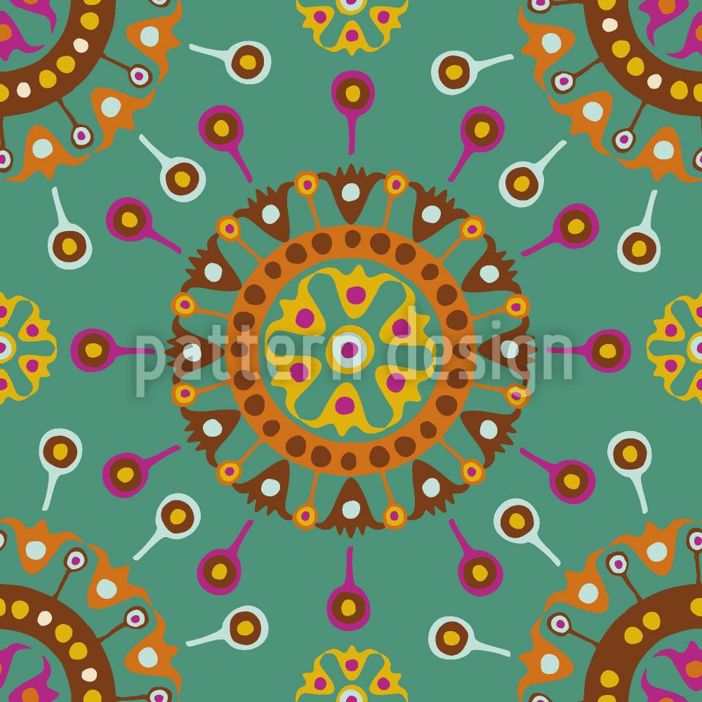 Designtapete Wayuu Ethno Ozean