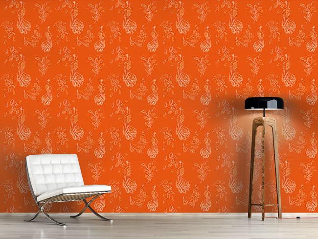 Designtapete Maharani Orange