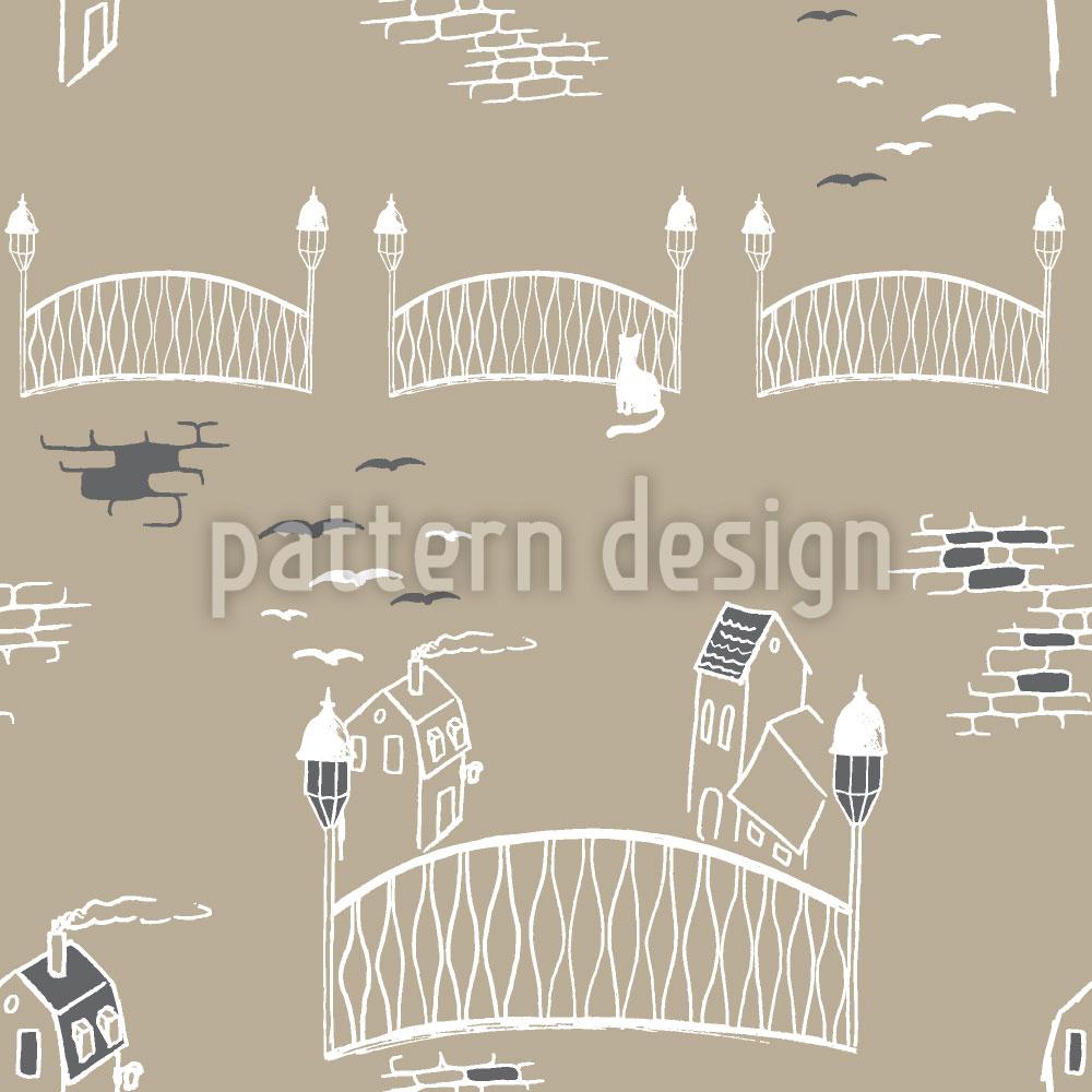 Designtapete Kätzchenbrücke In Paris