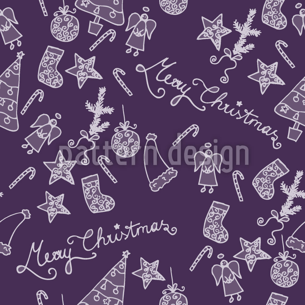 Designtapete Frohe Weihnachten In Lila