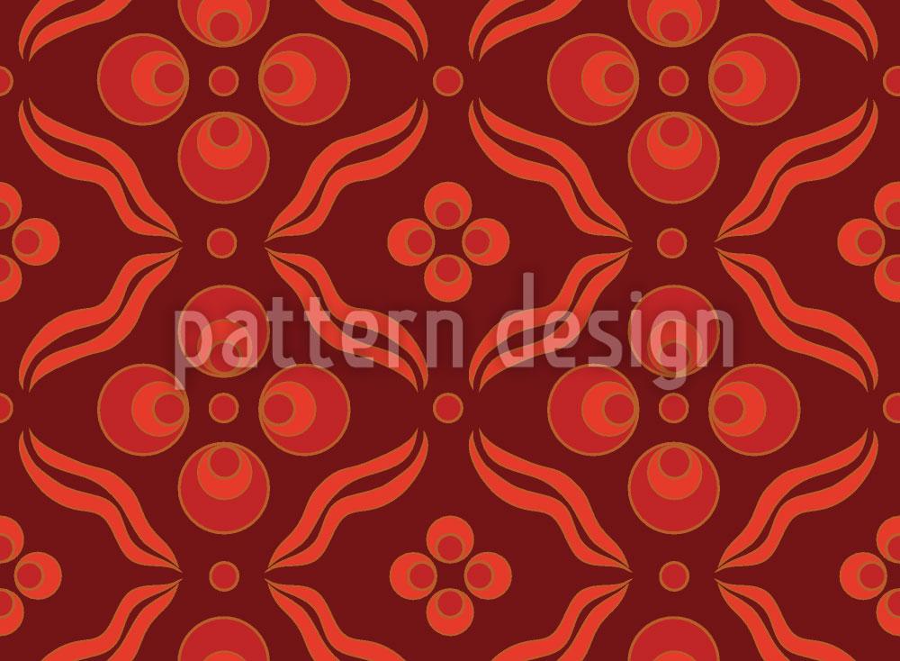 Designtapete Ottomani Rot