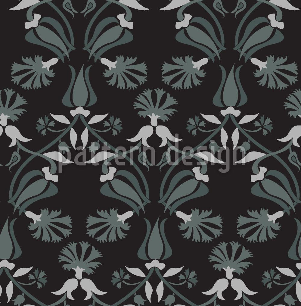 Designtapete Tulpen und Nelken