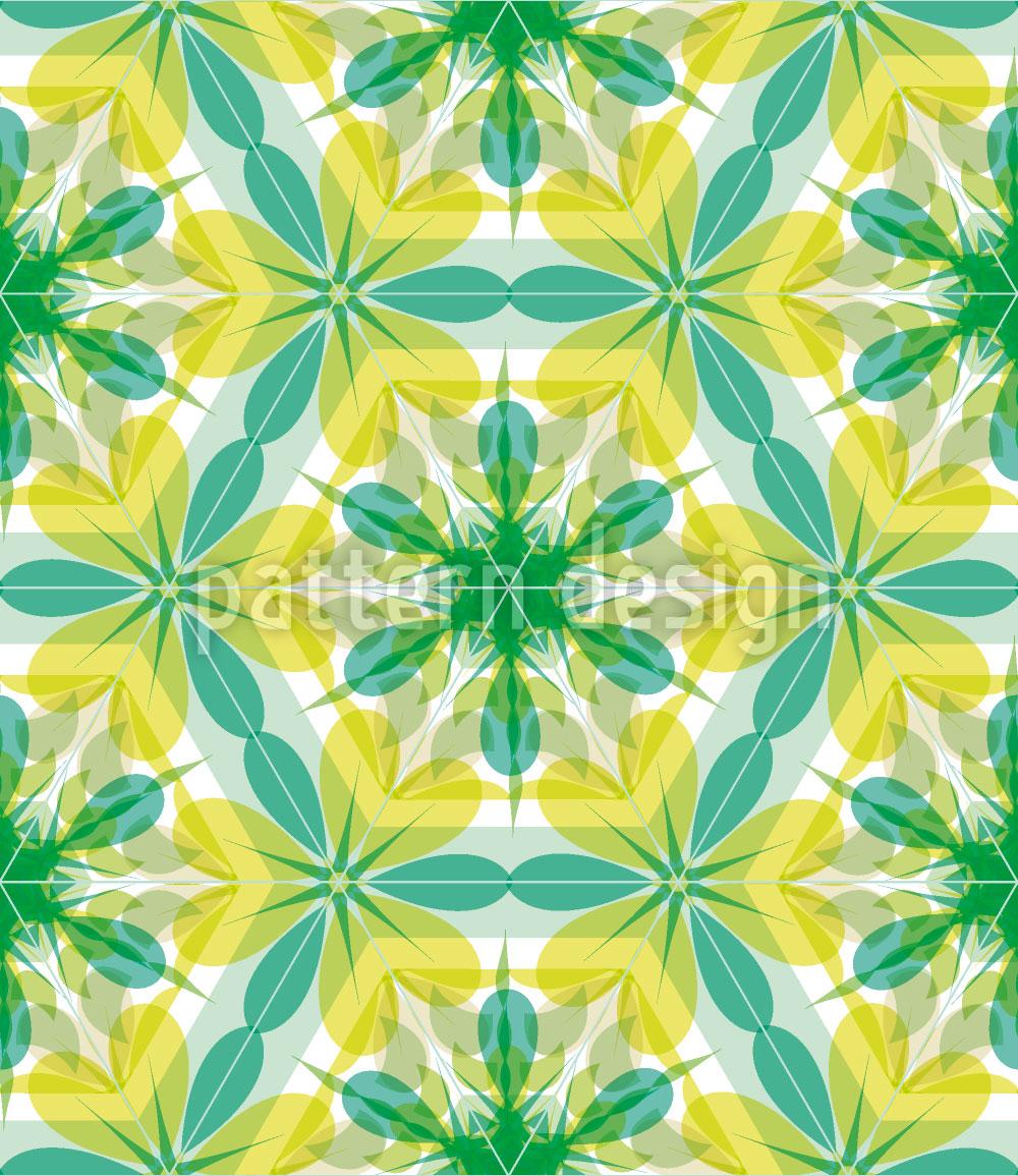 Designtapete Kaleidoskop Extrem Minze