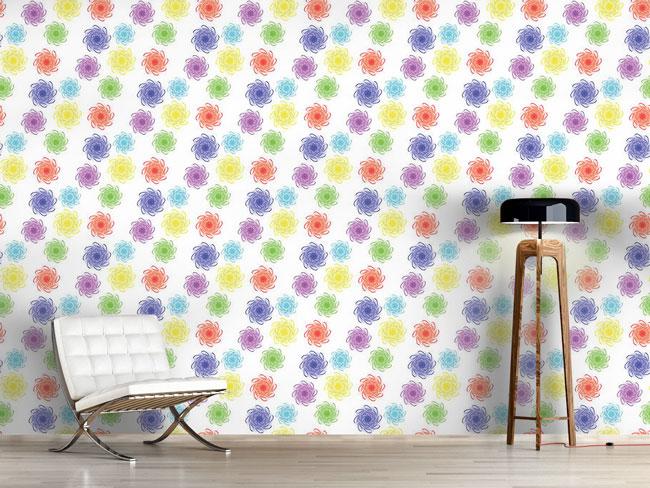 Designtapete Farbiges Floral