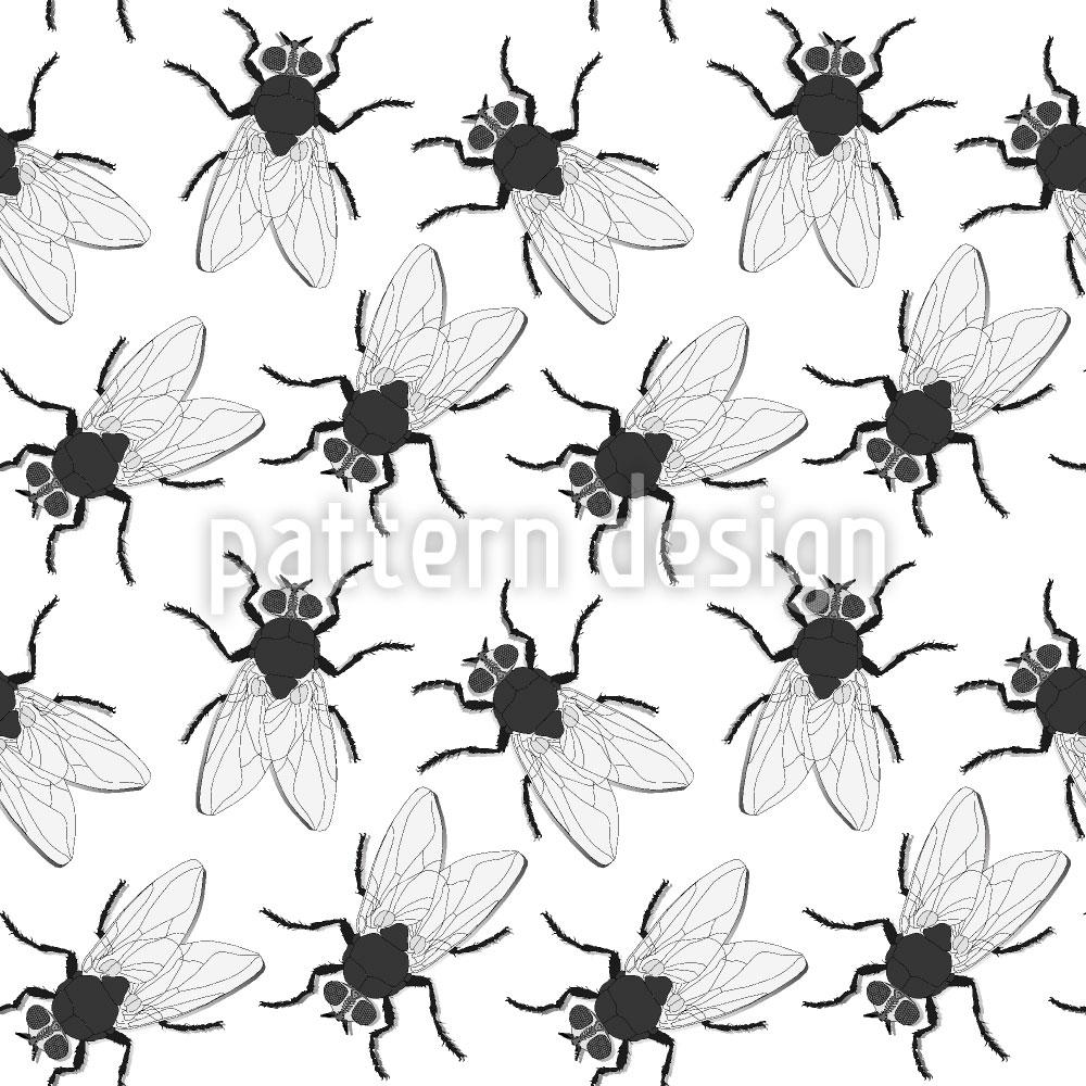 Designtapete Krabbel Fliegen