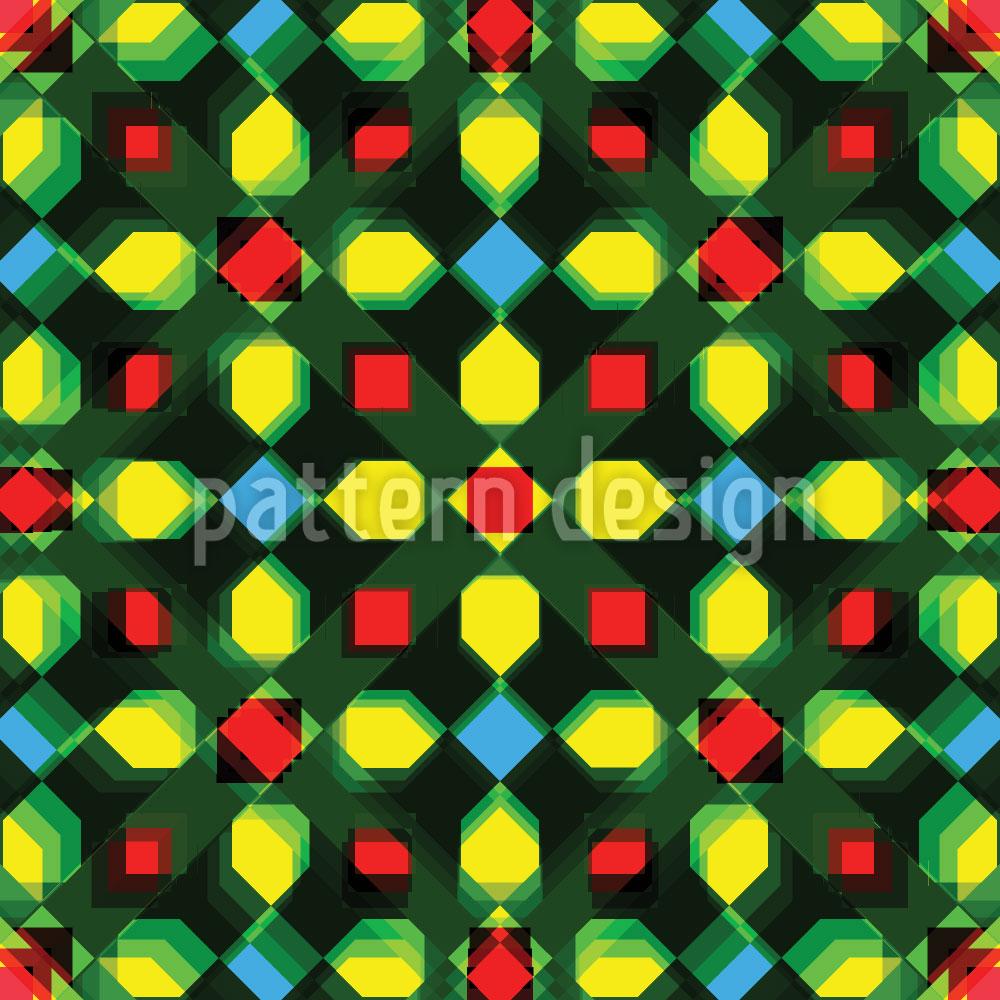 Designtapete Kristall Zentral