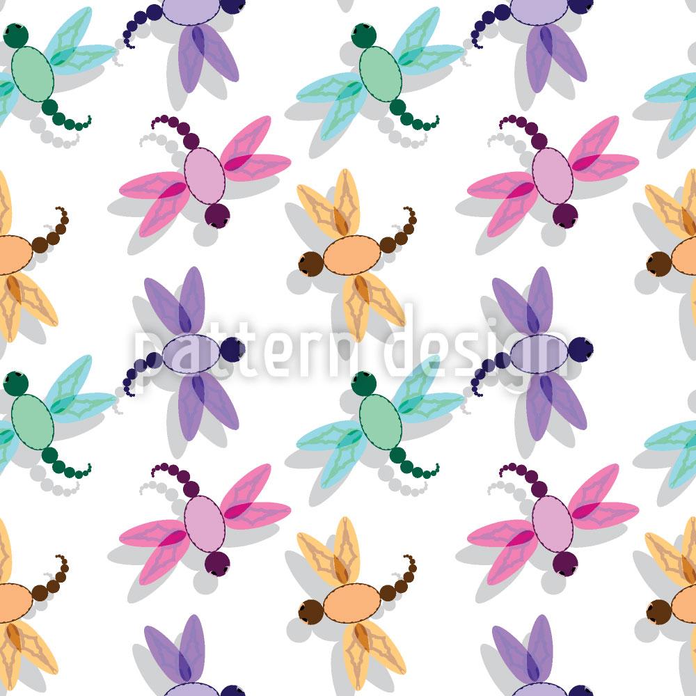 Designtapete Flug Der Libelle